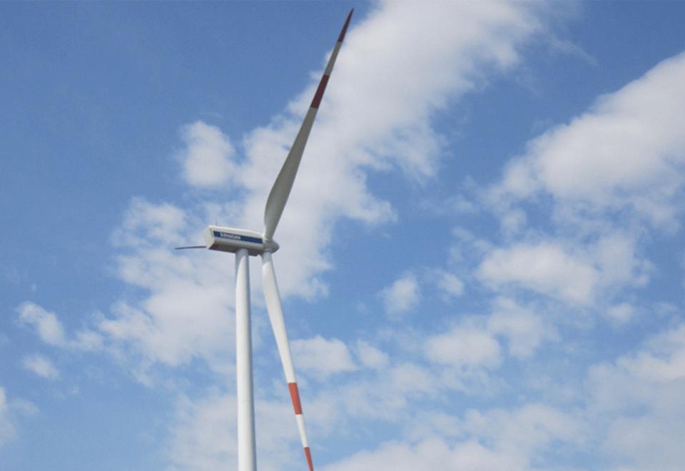 Az ALTEO 2 MW villamos teljesítményű, VESTAS V90 típusú szélerőműve Ácson.