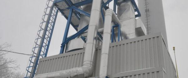 Az ALTEO fluidágyas technológiával rendelkező tiszaújvárosi biomassza kazánja.