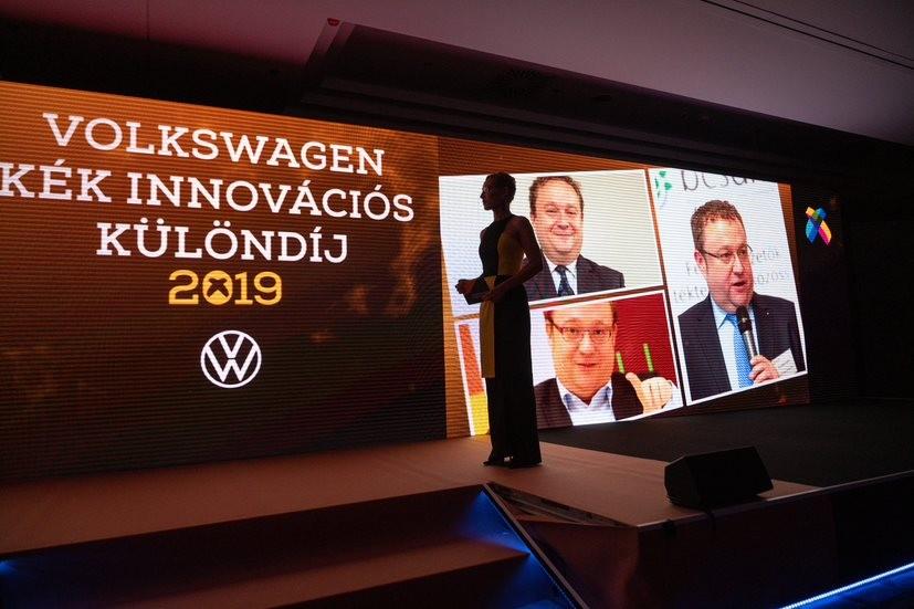 A Menedzserszövetség és a Volkswagen Kék Innovációs különdíjasa 2019-ben Ifj.Chikán Attila, vezérigazgató, ALTEO Nyrt.