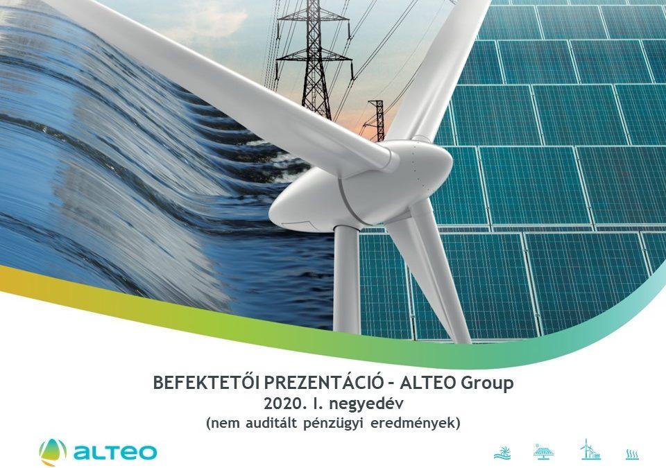 ALTEO - Befektetői prezentáció